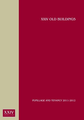 XXIV OLD BUILDINGS - Support