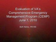VHA Comprehensive Emergency Management Program - The 2012 ...