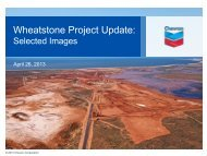 Wheatstone Project Update: Selected Images, April 26 ... - Chevron