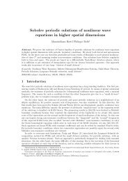 Sobolev periodic solutions of nonlinear wave equations in higher ...