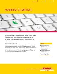 DHL Paperless Clearance Brochure
