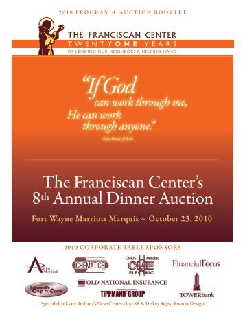 Silent Auction Descriptions - The Franciscan Center