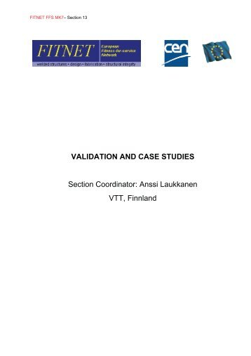 validation and case studies