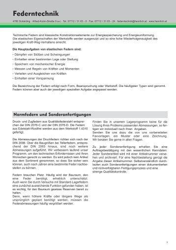 Federntechnik - HENNLICH GmbH & Co KG