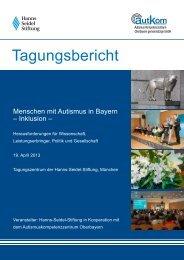 Tagungsbericht - Autismuskompetenzzentrum Oberbayern