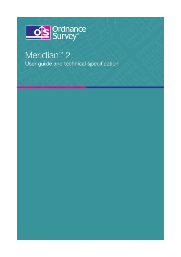 Meridian 2 user guide and technical specification - Digimap
