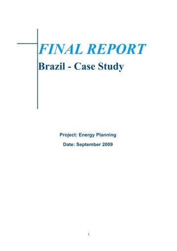 FINAL REPORT - OLADE - Organización Latinoamericana de Energía