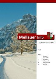 Mellauer Info Dezember