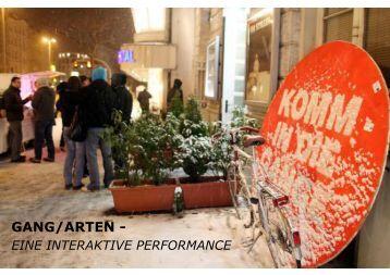 Projektbeschreibung GANG/ARTEN - Liz Rech