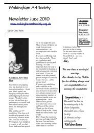 Newsletter June 2010 - Wokingham Art Society