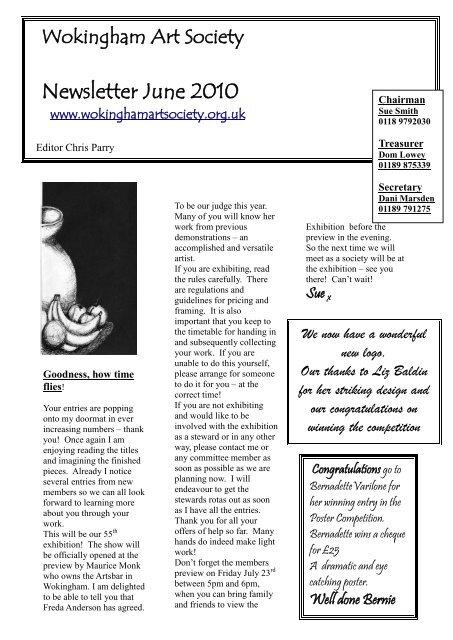 Newsletter June 2010 - Wokingham Art Society
