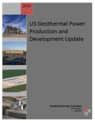 2010 US Geothermal Power Production and Development Update