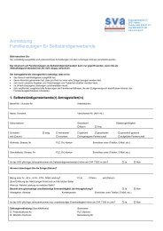 Anmeldung Familienzulagen für ... - SVA Aargau