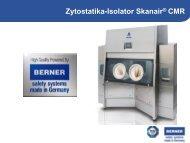 Zytostatika-Isolator Skanair® CMR - BERNER International GmbH