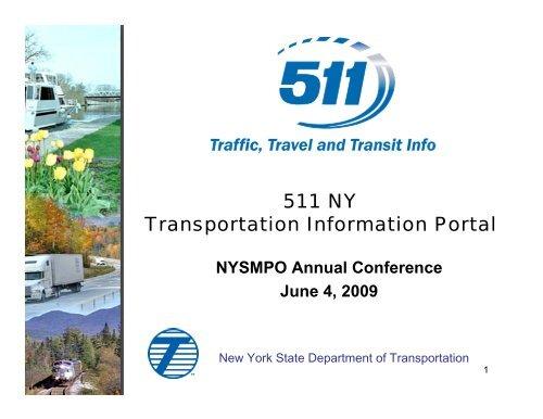 511 NY Transportation Information Portal - New York State