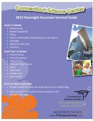 2012 Overnight Excursion Survival Guide - Connecticut Science ...
