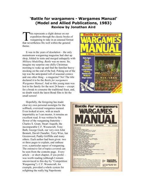 'Battle for wargamers - Wargames Manual ... - Lone Warrior Blog