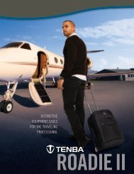 distinctive equipment cases for the traveling professional - Tenba