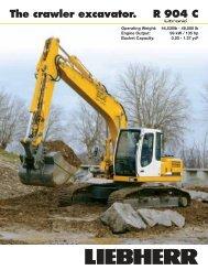 R 904 C The crawler excavator.