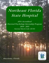 Psychology Internship Brochure - Florida Department of Children ...