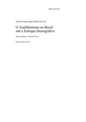 O Analfabetismo no Brasil sob o Enfoque ... - Empreende.org.br