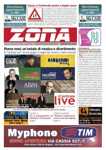 Zona 01-06-12 - Il notiziario gratuito di Roma Nord