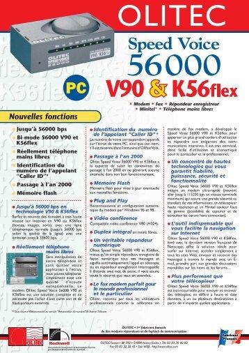 Speed Voice 56000 Nouvelles fonctions - Olitec