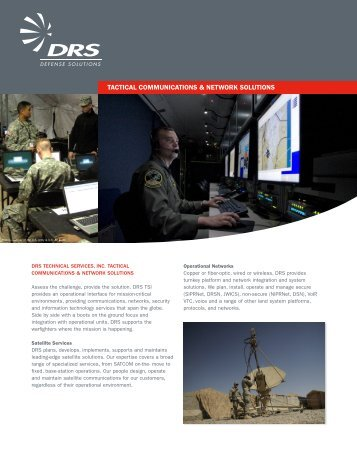 tactical communications & network solutions - DRS Technologies
