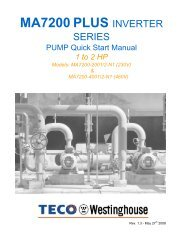 MA7200 PLUS 1-2 HP Pump Quick Start Guide Rev 5