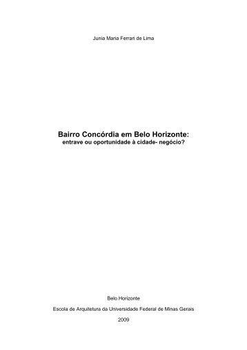 Bairro Concórdia em Belo Horizonte: - Escola de Arquitetura - UFMG