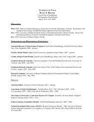 CV - Cornell Lab of Ornithology - Cornell University