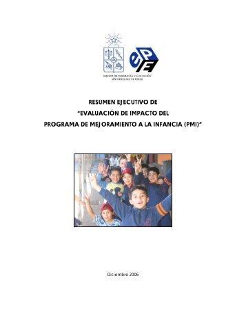 Resumen Ejecutivo Evaluación de Impacto del Programa de ...