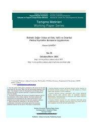 Riskteki Değer (Value at Risk. VaR) - Siyasal Bilgiler Fakültesi ...