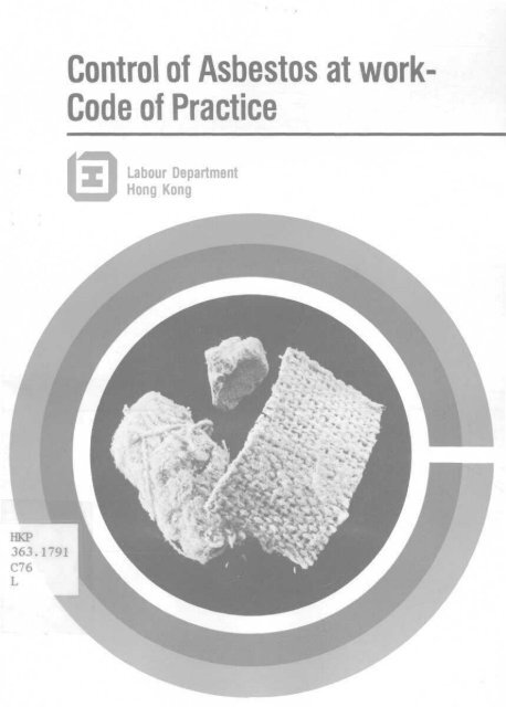 Control of Asbestos at work - HKU Libraries - The University of Hong ...