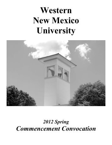 Spring 2012 Commencement Program - Western New Mexico ...