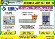Retail August 2011 Specials - Award RV Superstore