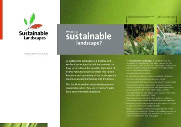 What is a Sustainable Landscape? - SA Water