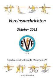 Oktober 2012 - SV Funkstreife München e.V.