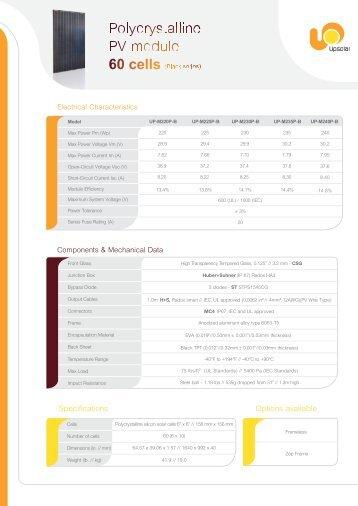 poly 60-B - Solar Electric Supply