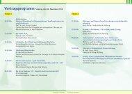 Vortragsprogramm Samstag, den 20. November 2010 Forum 1 ...