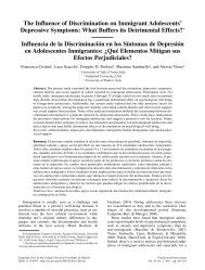 The Influence of Discrimination on Immigrant Adolescents ...
