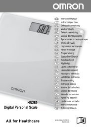 HN-289 all languages - Omron Healthcare