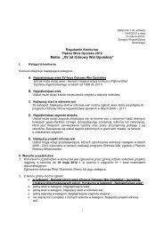 Regulamin konkursu - KSOW