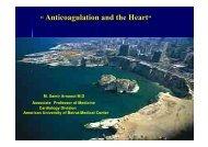 """ Anticoagulation and the Heart"""