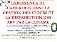 EXPERIENCE DU CAMEROUN DANS LA GESTION DES ... - ReMeD