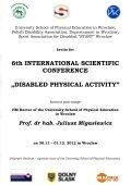 Program (ang) - Akademia Wychowania Fizycznego we Wrocławiu - Page 2
