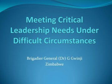 Meeting Critical Leadership Needs Under Difficult ... - Library