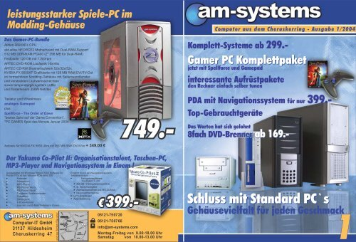 € 399.- € 399.- - am-systems Computer IT GmbH