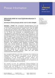 Wintershall erhält vier neue Explorationslizenzen in ... - Wintershall AG