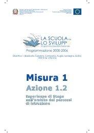 Azione 1.2 Esperienze di Stage nell'ambito dei percorsi di istruzione